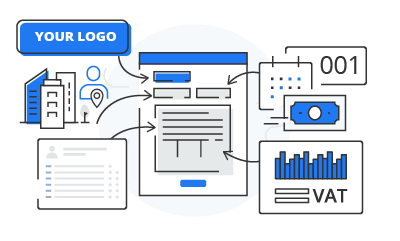 generate invoice with your logo