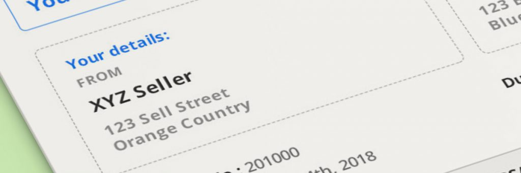 Invoice Sender Information