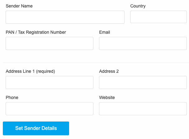 add sender details field